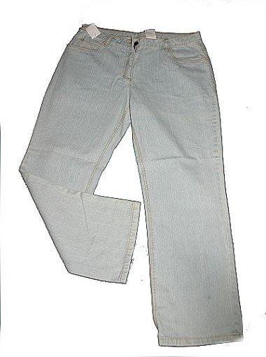 damen jeanshose jeans 3 4 hose caprijeans blau helle waschung motiv gr 36 neu ebay. Black Bedroom Furniture Sets. Home Design Ideas
