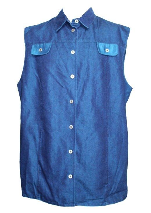 damen weste jeansweste verschedene blau t ne marque noire 48 neu ebay. Black Bedroom Furniture Sets. Home Design Ideas