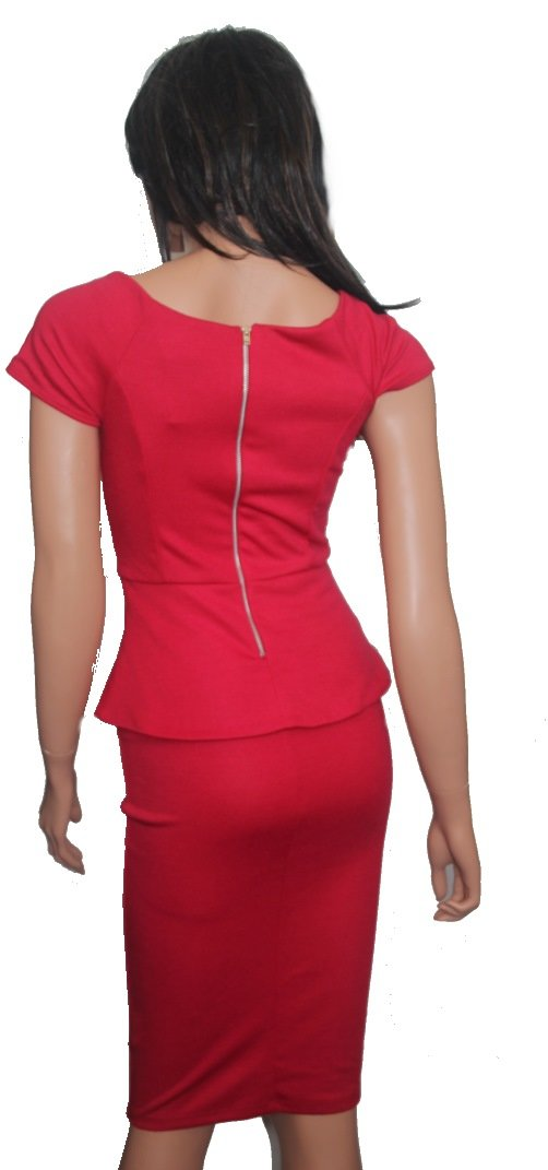 kleid elegant abendkleid rot kirschrot asos gr. 36 neu | ebay